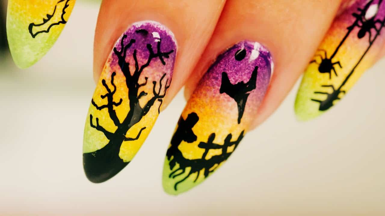 Ombre Halloween Nail Art – Step By Step Tutorial